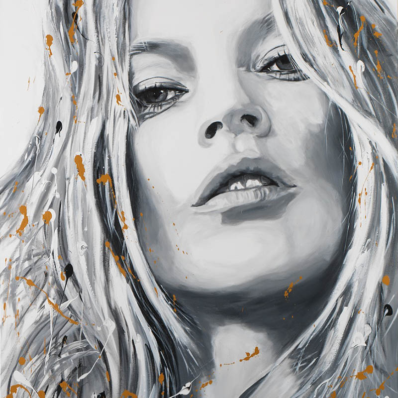 Kate Moss par Michael Edery artiste pop art
