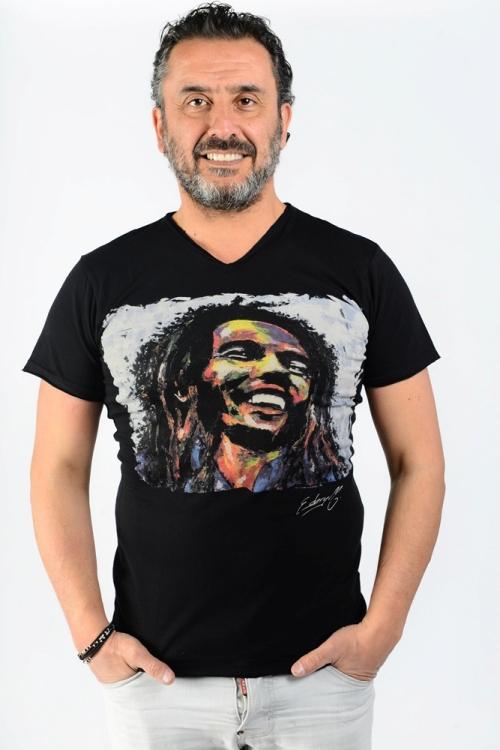 Bob Marley par Michael Edery artiste pop art