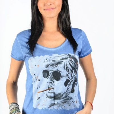 t shirt femme dirty blue robert redford