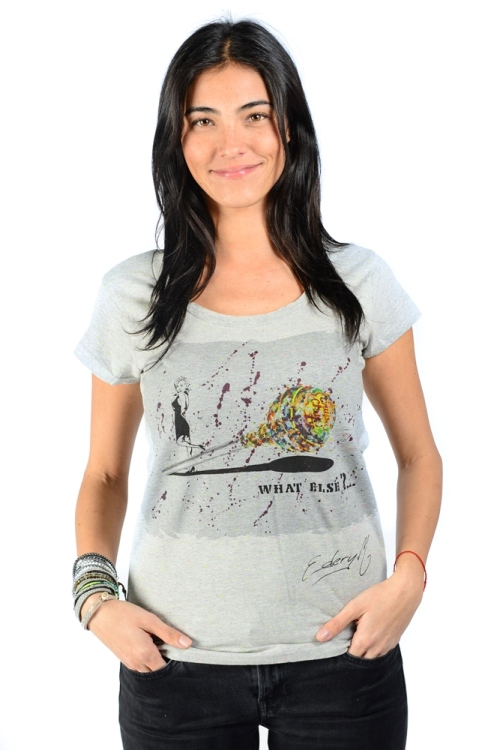t shirt femme what else nep grey gris clair