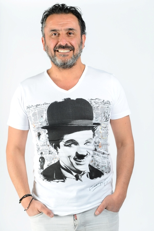 Charlie Chaplin par Michael Edery artiste pop art