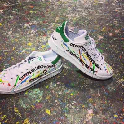 basket stan smith customisées par michael edery