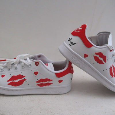 BISOUS STAN SMITH CUSTOMISEE MICHAEL EDERY ADIDAS STAN SMITH