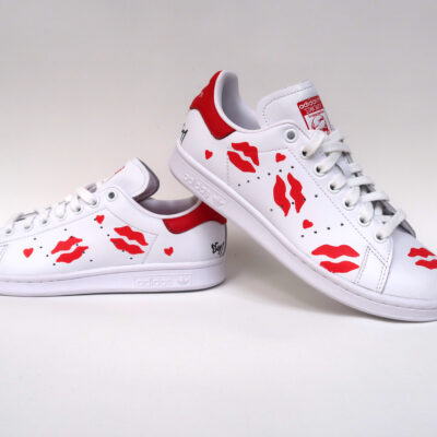 Stan smith customisées « BISOUS »